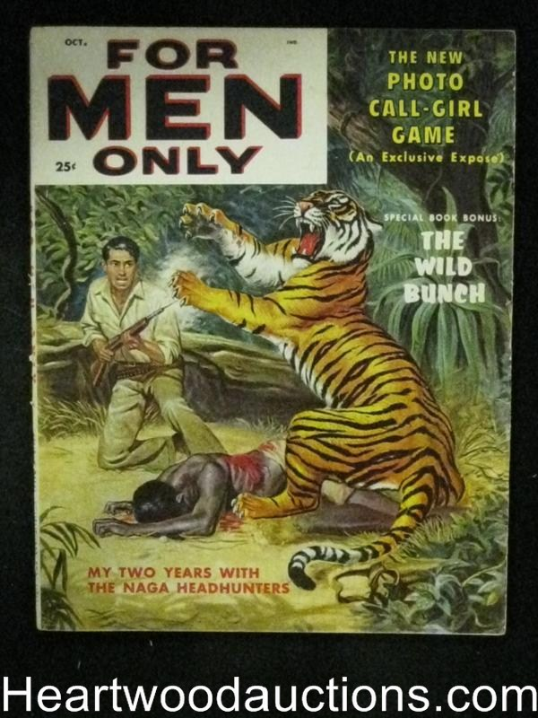 For Men Only Oct 1957 Tiger Assault Cover, Anita London