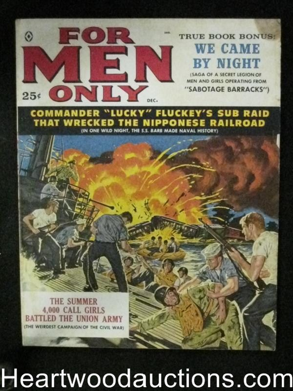 For Men Only Dec 1959 Jim Bama Cover, DeSoto, Copeland, Cohen
