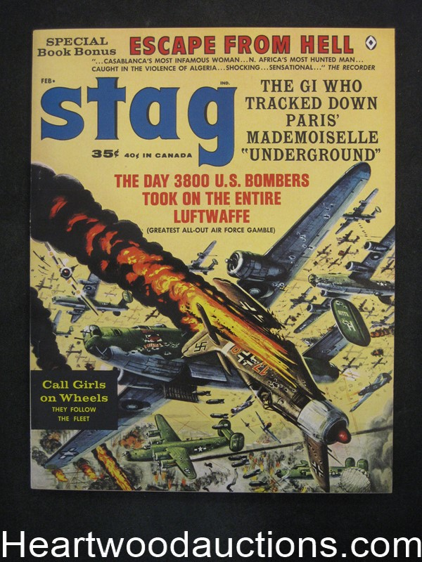 Stag Feb 1963 Walter Popp, Charles Copeland, Kunstler Air War cover - Ultra High Grade- NAPA