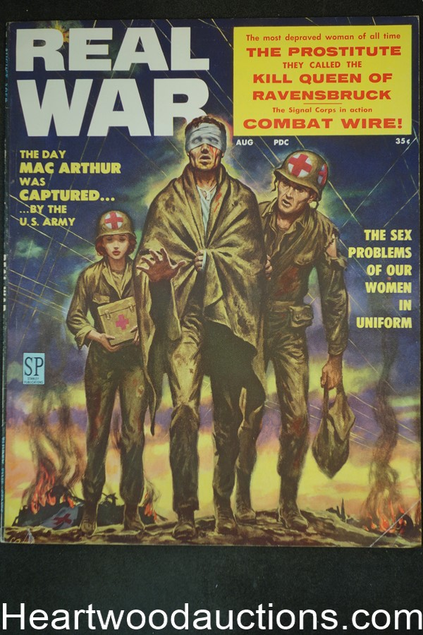 Real War Aug 1958 Clarence Doore Cover, Ted Lewin - High Grade- NAPA