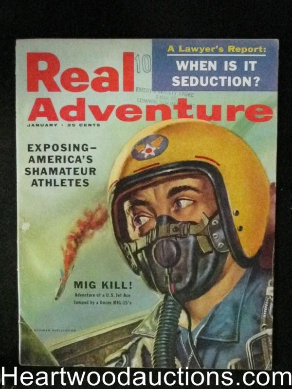 Real Adventure Jan 1956 Mig Kill Cover, Earl Chester