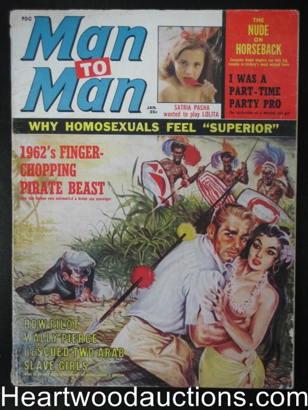 Man to Man Jan 1963 Jungle natives spear attack,Boxing