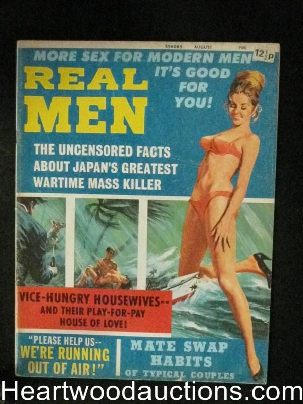 Real Men Aug 1971 Good Girl Art Cover,uncommon 70's issue