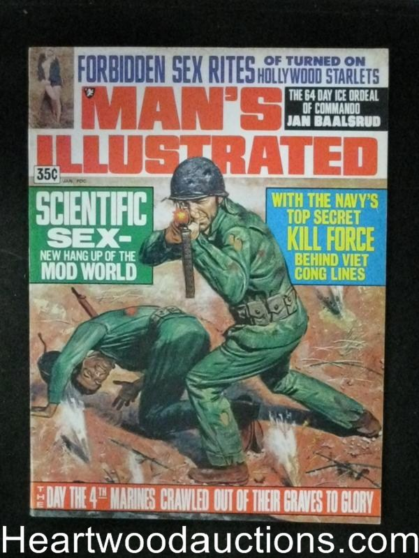 Man's Illustrated Jan 1970 Navy Seals,WWII cover