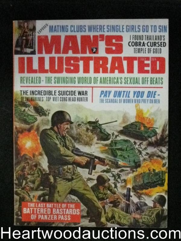 Man's Illustrated Jul 1961 Tommy Gun Cover
