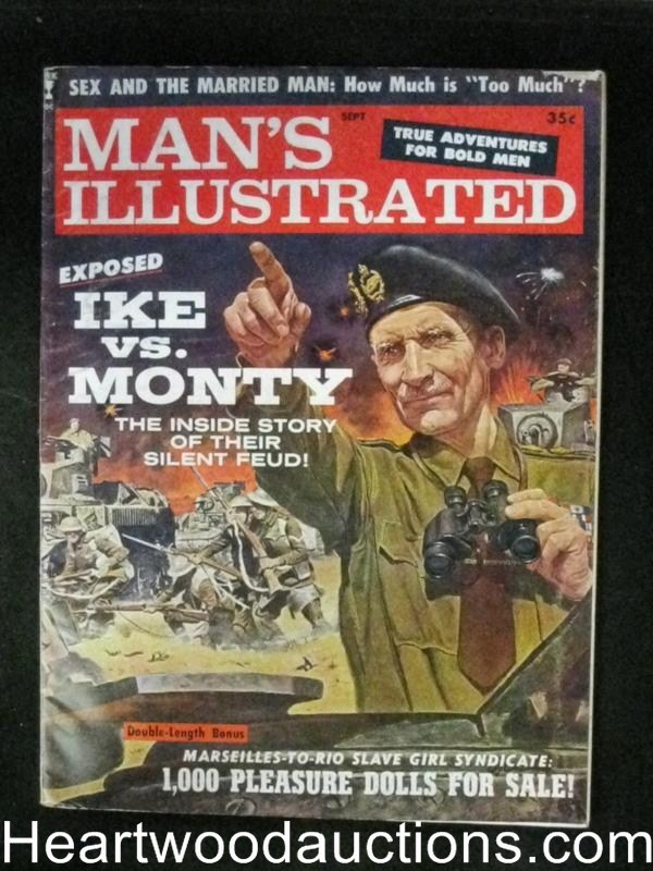 Man's Illustrated Sep 1960 Montgomery Cover