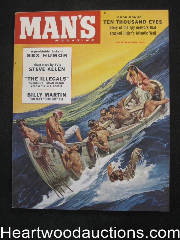 Man's Sep 1958 Lisa Winters by Bunny Yeager, Baseball Billy Martin, Harry Schaare Cvr,  - Ultra High Grade- NAPA