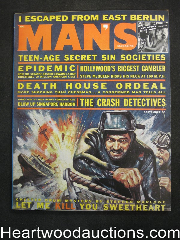 Man S Sep 1962 Stephen Marlowe Harry Houdini Steve border=