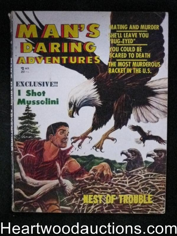 Man's Daring Aug 1956 L. B. Cole Cover