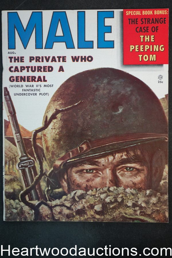 Male Aug 1956 George Gross Cover, Kunstler, Pollen, Schulz - High Grade- NAPA