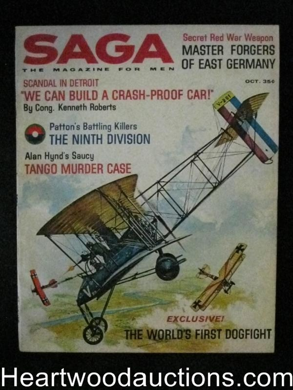 Saga Oct 1961 Valigursky Dogfight Cover, Jack LaLane body building