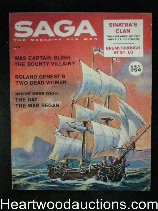 Saga Jan 1961 Frank Sinatra's Clan, Interior Male Bondage and Whipping, Saunders