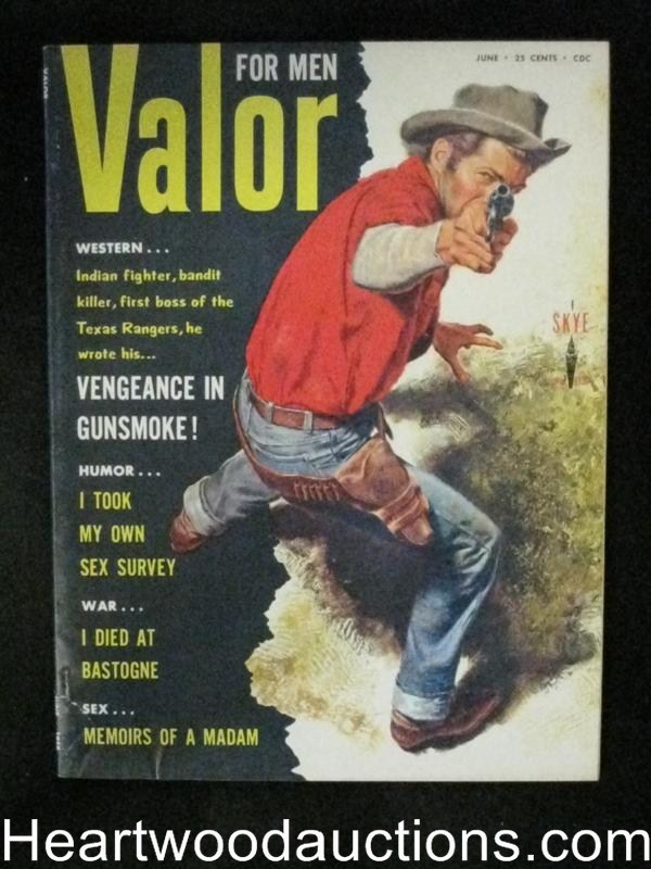 Valor Jun 1958 Skye sleaze publication, WWII