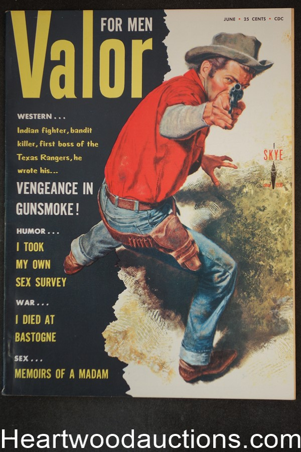 Valor Jun 1958 Skye sleaze publication, WWII - High Grade- NAPA
