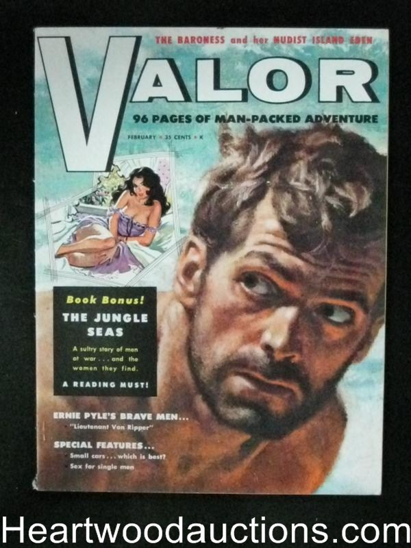 Valor Feb 1959 Howell Dodd cover, Interior assault illustration