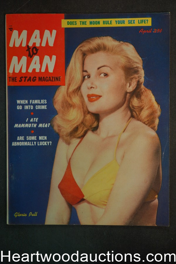 Man to Man Apr 1953 Gloria Pal Cover, Boxing- Rocky Marciano, Wenzel - Ultra High Grade- NAPA