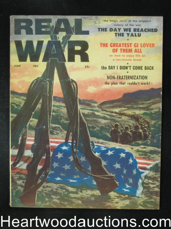Real War Jun 1958 Clarence Doore cover, Ted Lewin
