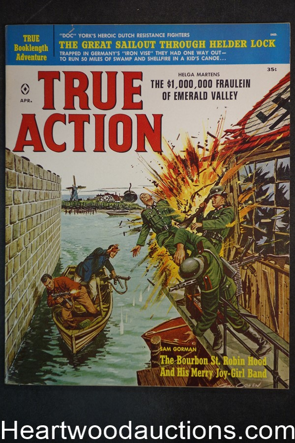 True Action Apr 1960 Harry Harrison, Terry Higgins, Emsh, Nappi, Copeland, Rossi - Ultra High Grade- NAPA