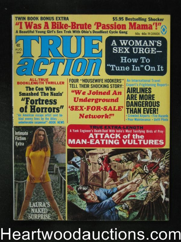 True Action Aug 1971 Motorcycle gang mama, Copeland, Minney, Pollen - High Grade