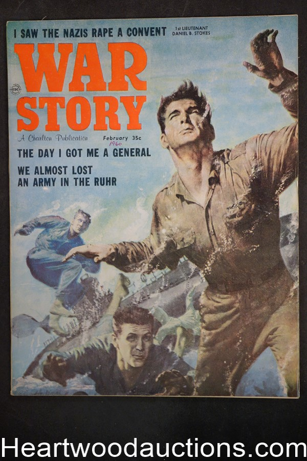 War Story Feb 1960 Cheryl Kubert, Civil War, Wolrd War II - High Grade- NAPA