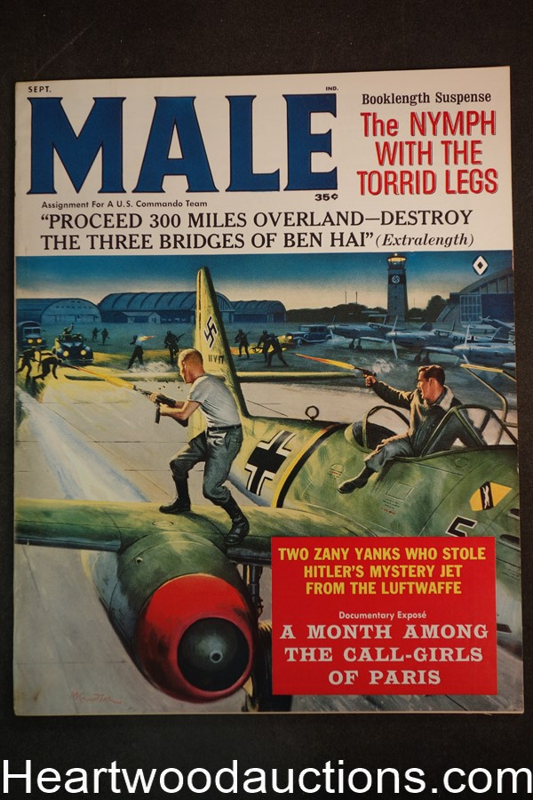 Male Sep 1962 Kunstler Cvr, Rafael DeSoto, Charles Copeland, Walter Popp, The Nymph With The Torried Legs  - High Grade- NAPA