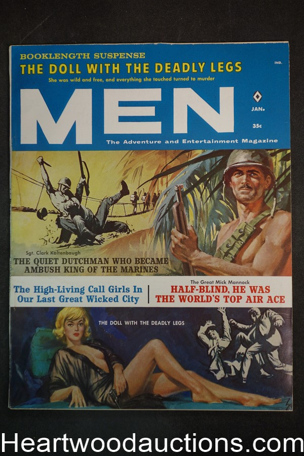 Men Jan 1962 The Doll With The Deadly Legs, Gil Cohen, Harry Schaare, Ray Keane - Ultra High Grade- NAPA