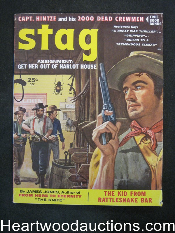 Stag Dec 1957 James Bama, Charles Copeland, Lou Marchetti, The Saigon Sex Circuit, Harlot House, Cannibal Missionary - High Grade- NAPA