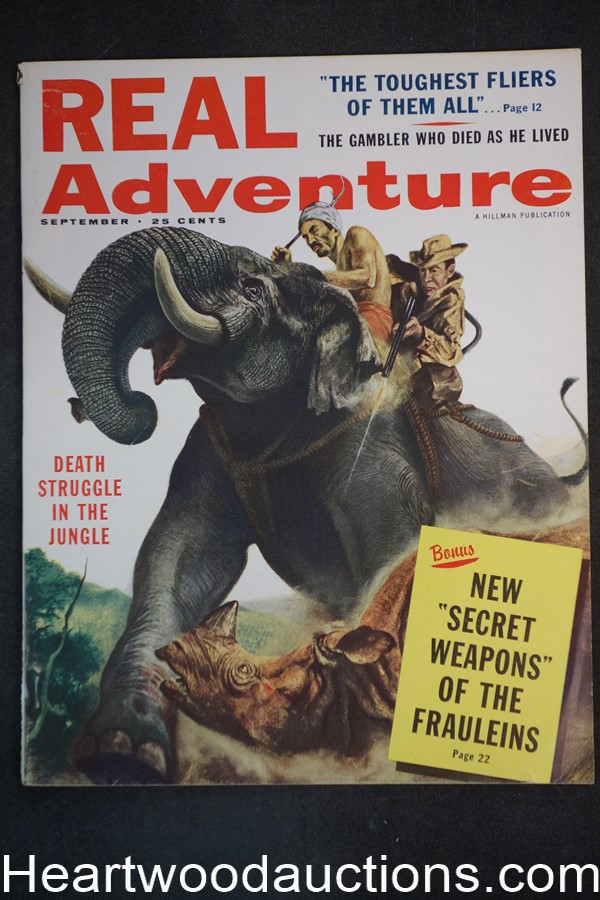 Real Adventure Sep 1958 Brigitte Bardot,  Lafayette Escadrille French WWI air aces  - High Grade- NAPA