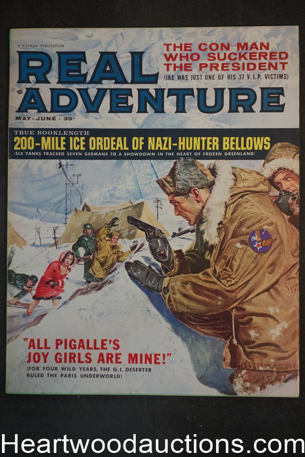 Real Adventure May-Jun 1961 George Gross Cvr, Norman Saunders, Bruce Minney, Norm Eastman - Ultra High Grade- NAPA