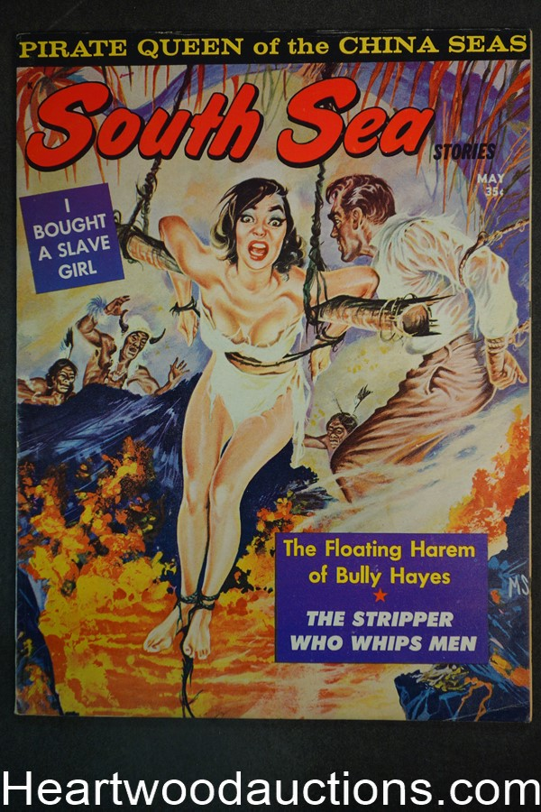 South Sea Stories May 1963 Bondage Cvr, The Stripper Who Whips Men - High Grade- NAPA