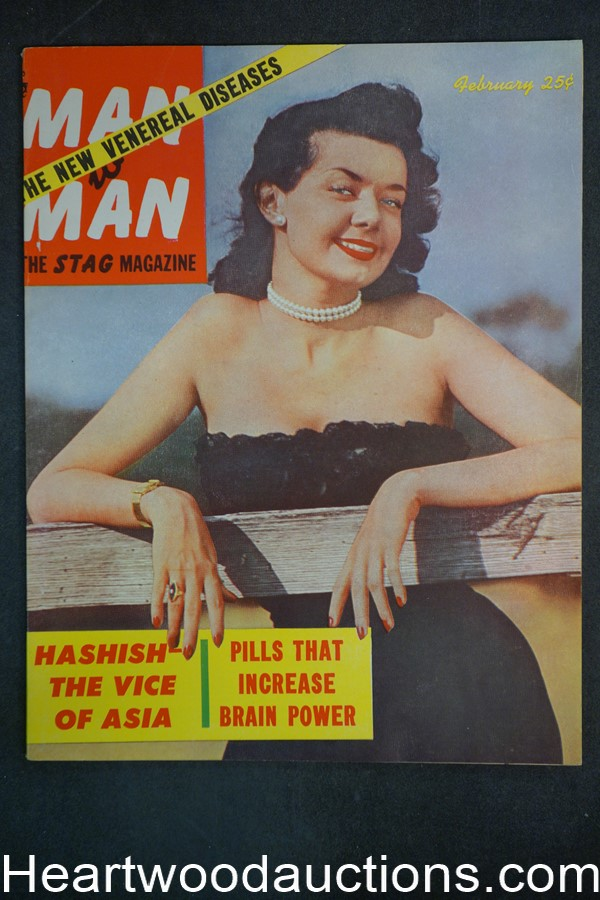 Man to Man Feb 1953 Milton Lesser Sci-Fi 1st App. Bunnie Yeager, Boxing - Ultra High Grade- NAPA