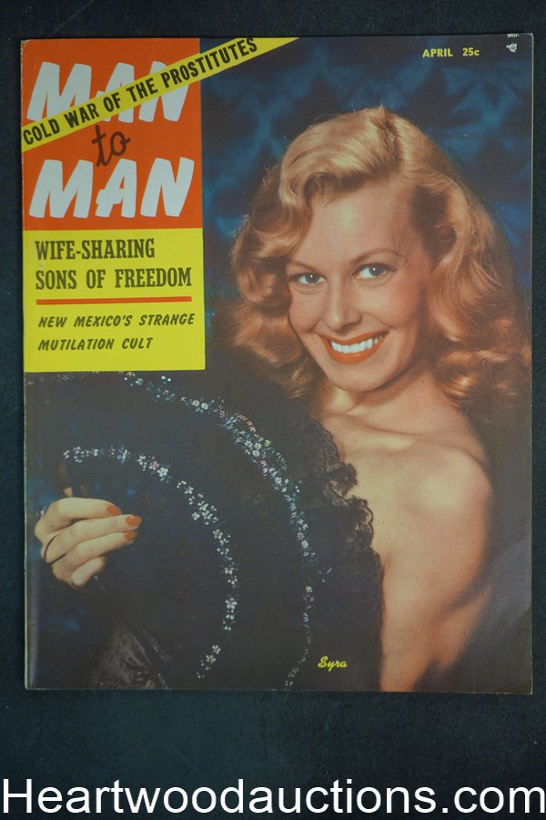 Man to Man Apr 1954 Cleo Moore , Jane Easton, Boxing - Ultra High Grade- NAPA
