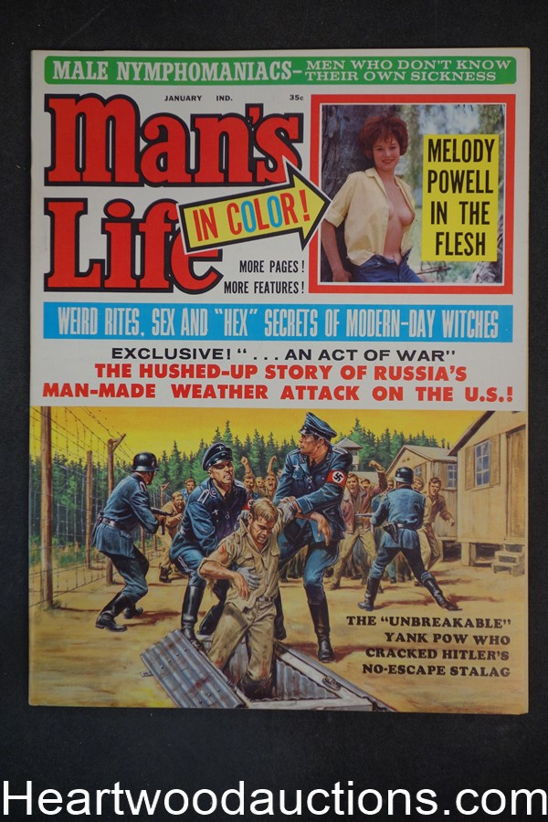 Man's Life Jan 1964 Int Male Bondage + Whipping Illo, Gypsie Vice in NY, modern witches - Ultra High Grade- NAPA