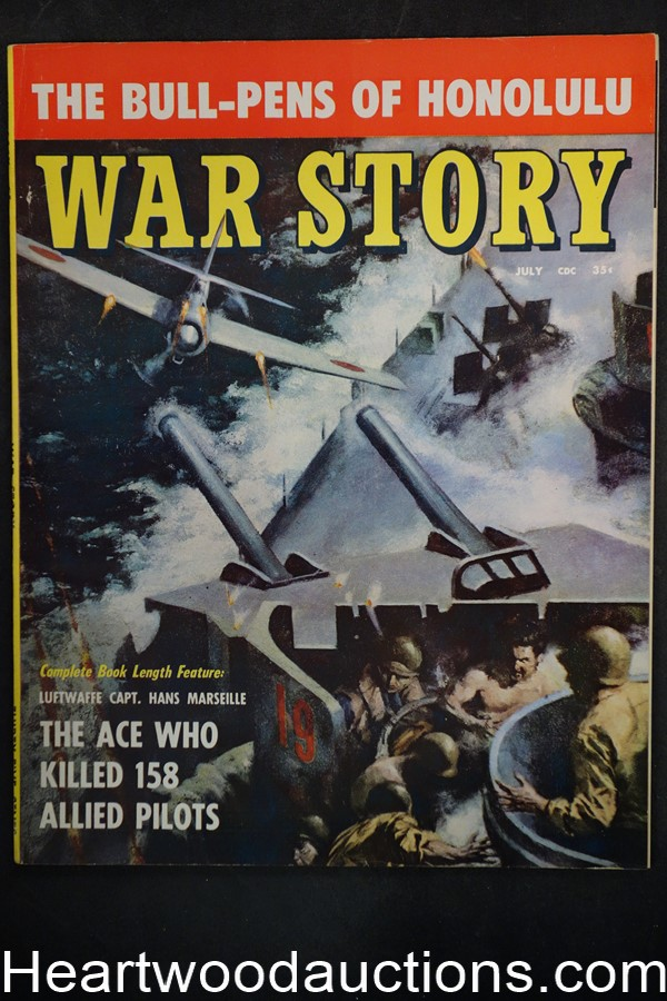 War Story Jul 1957 #1, Barry Waldman; Parenti; WWII; George S. Patton - Ultra High Grade- NAPA