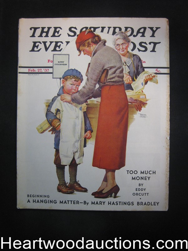 Saturday Evening Post Feb 27, 1937 Otto Fischer, T.S. Stribling