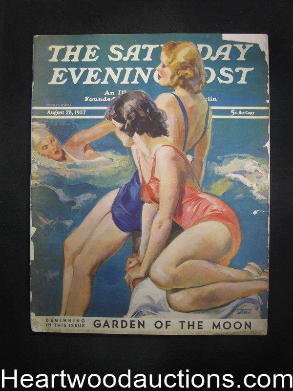 Saturday Evening Post Aug 28, 1937 John LaGatta Cvr, H. Bedford Jones