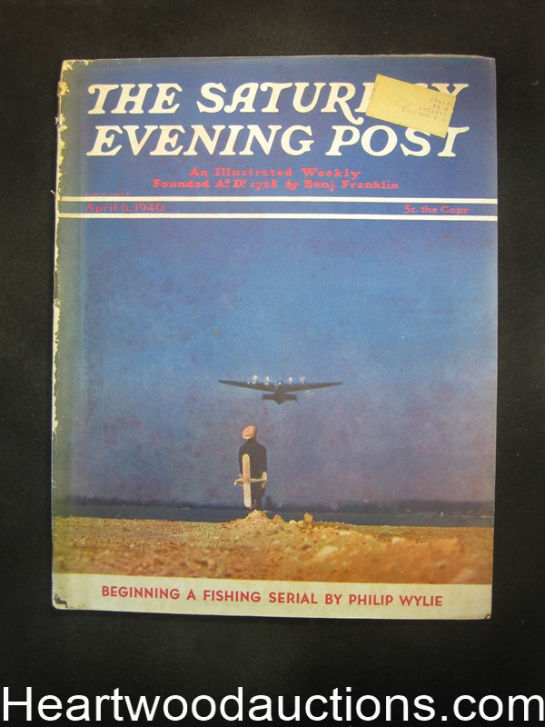 Saturday Evening Post Apr 6, 1940 MG Eberhart, Amos Sewell, Coca-Cola BC