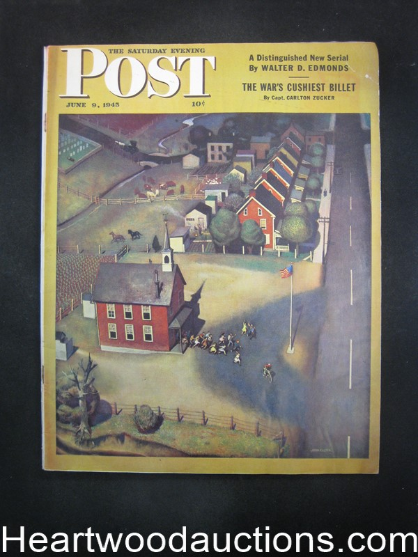Saturday Evening Post Jun 9, 1945 John Falter Cvr, Luke Short, Amos Sewell, Albert Dorne