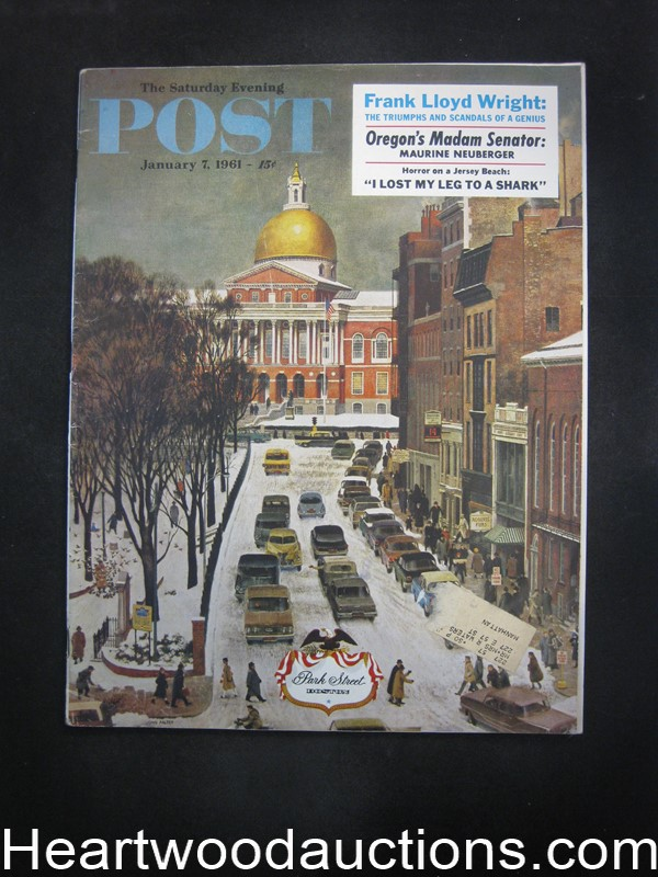 Saturday Evening Post Jan 7, 1961 John Falter Foldout Cvr