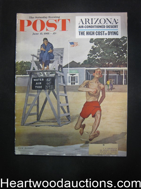 Saturday Evening Post Jun 17, 1961 Rex Stout Nero Wolfe, McGinnis
