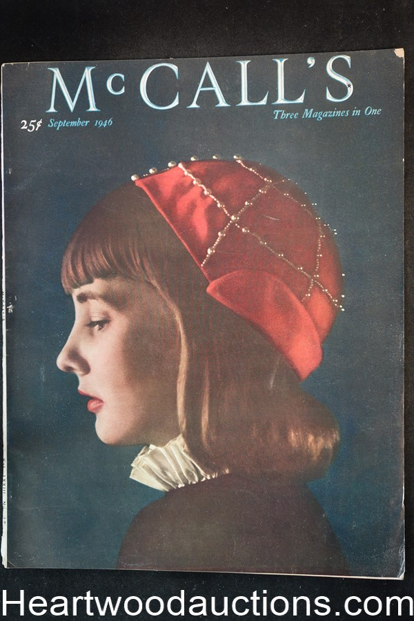 McCall's Sep 1946 Baumhofer Art, Ford ad; Barbara Stanwyck in Lux soap ad;