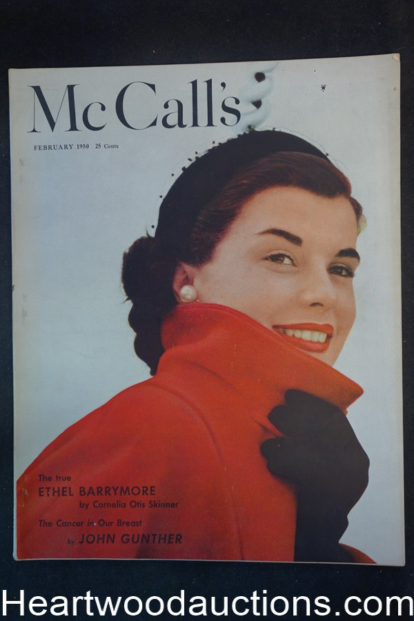 McCall's Feb 1950  Walter Baumhofer Art, Ethel Barrymore feature, Coca-Cola ad