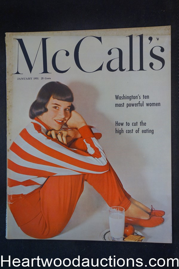McCall's Jan 1951 RG Harris Art, Camel cigarettes ad