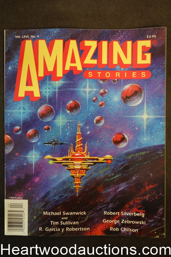 Amazing Stories Aug 1991 Kelly Freas Cover, Robert Silverberg - Ultra High Grade
