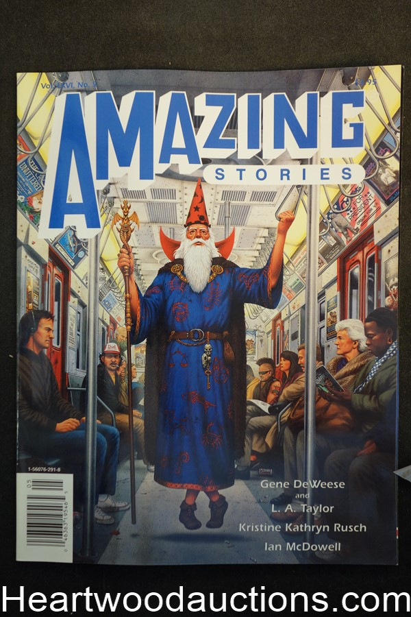 Amazing Stories Sep 1991 David Mattingly Cover - Ultra High Grade