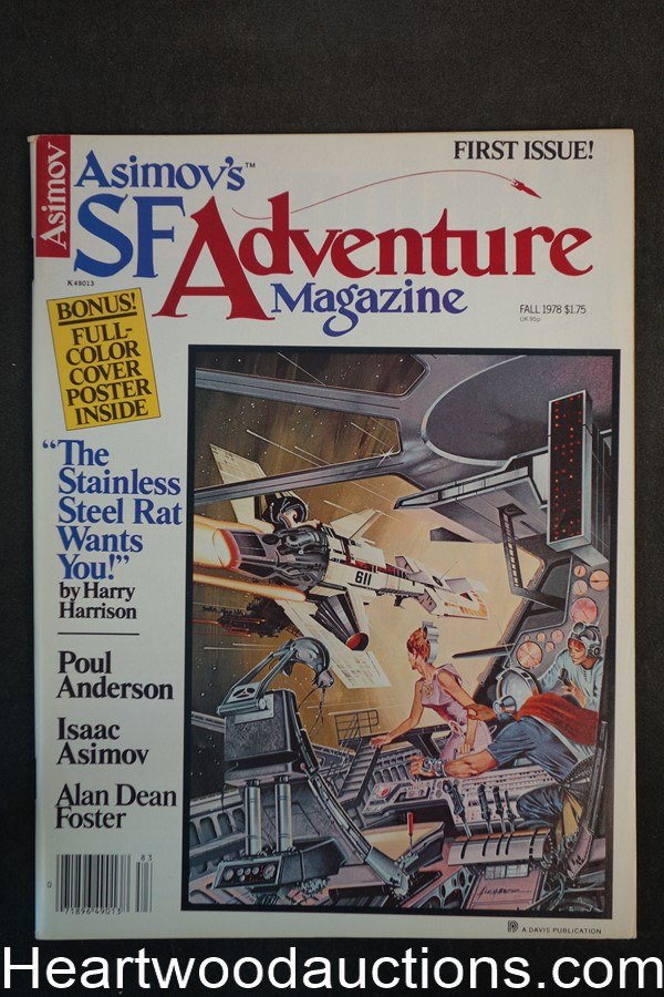 Asimov's SF Adventure Fall 1978 Schomberg Art, Isaac Asimov, Harry Harrison - High Grade