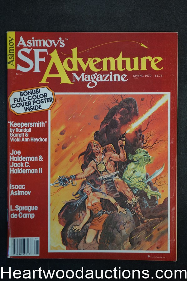 Asimov's SF Adventure Spring 1979 L. Sprague de Camp, Paul Alexander Cover - High Grade