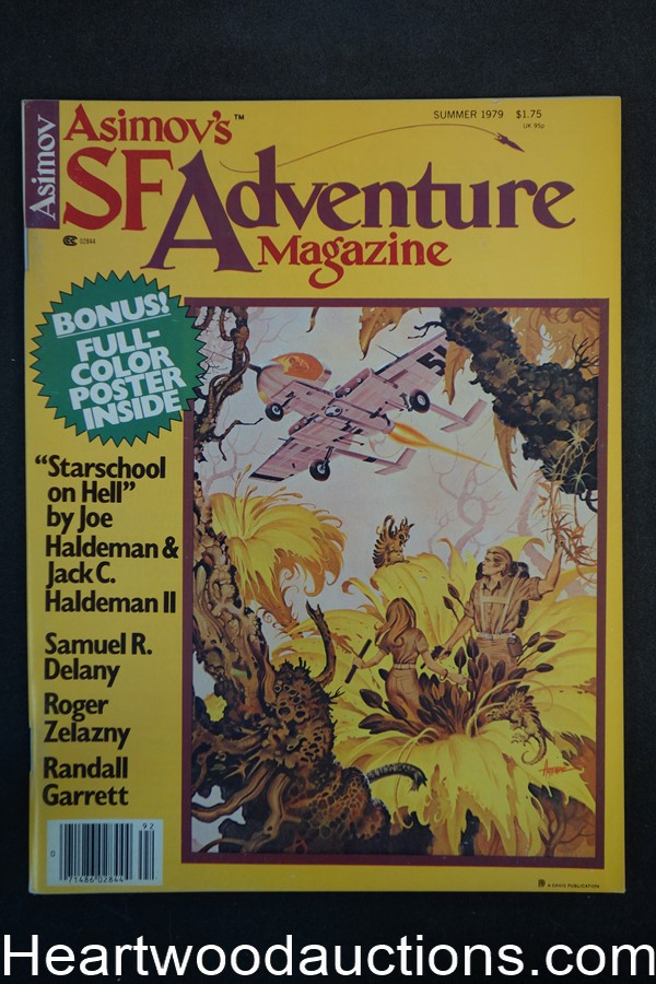 Asimov's SF Adventure Summer 1979 Roger Zelazny, Paul Alexander Cover - High Grade