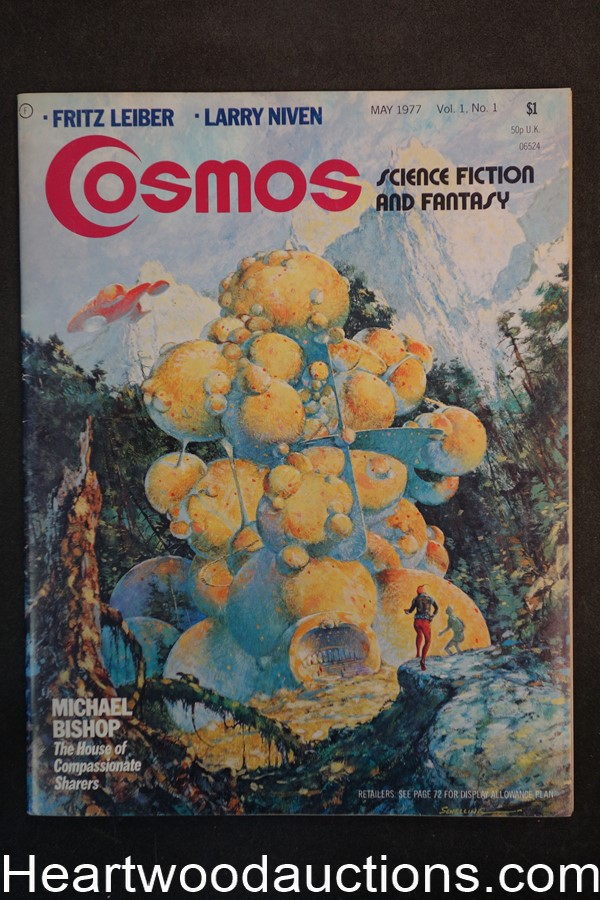 Cosmos May 1977 Larry Niven, Fredrik Pohl,  George Schelling Cover - High Grade