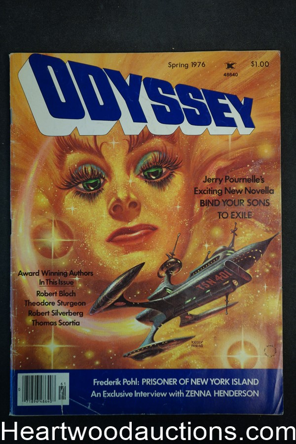Odyssey Spring 1976 Kelly Freas Cvr, Barry Malzberg, Fred Saberhagen, T. Sturgeon - High Grade